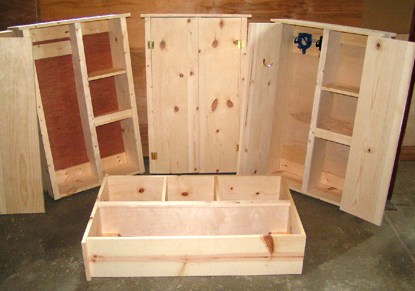 Picture of cabinets in various stages