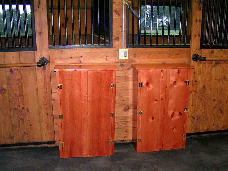 Finished Barn Cabinets