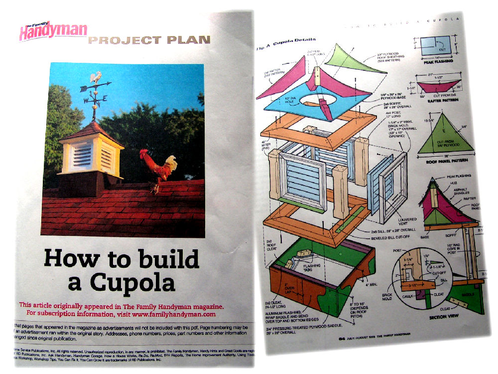 301 moved permanently for How to build a cupola plans free